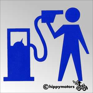 Banksy suicide petrol car decal