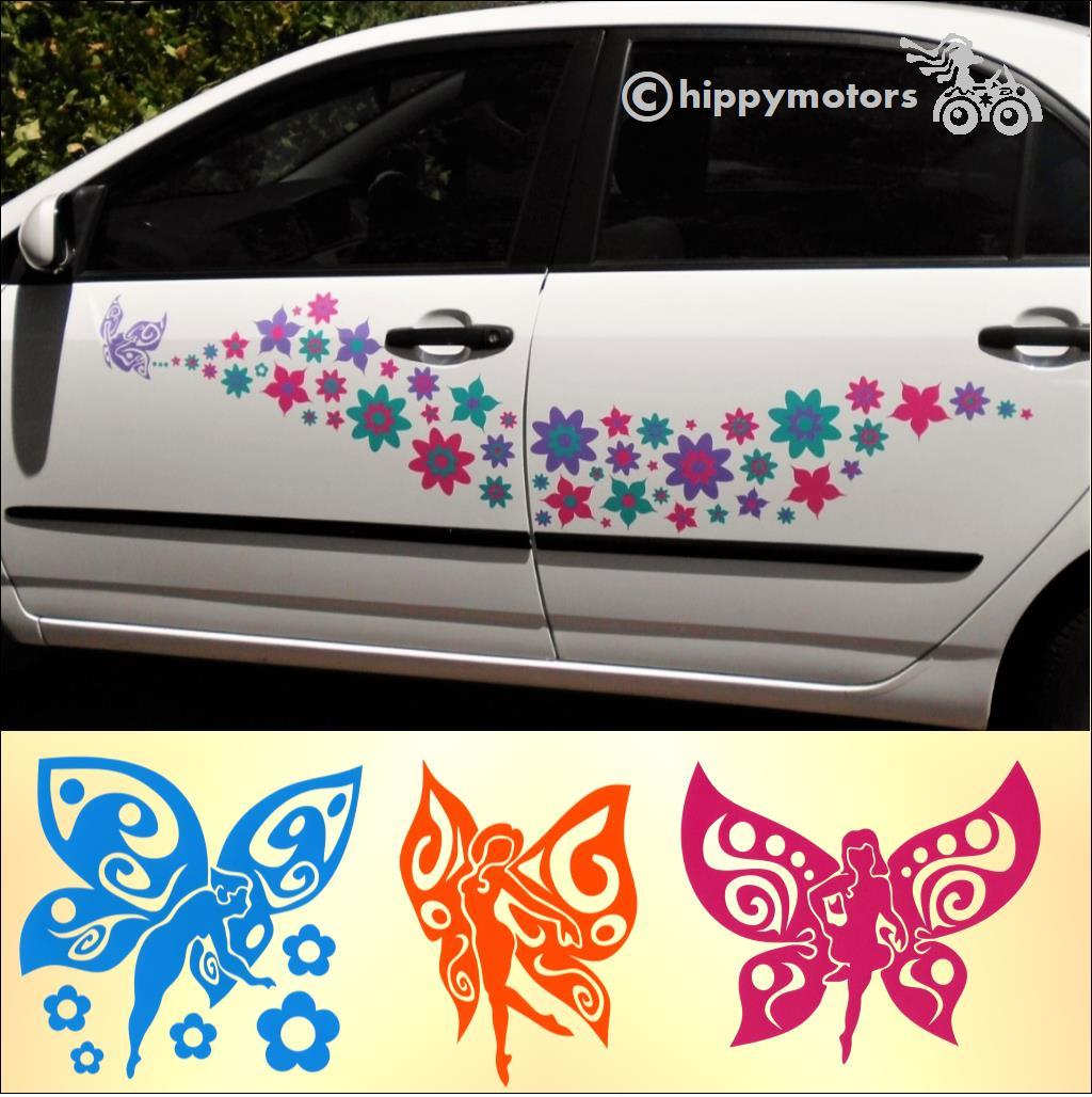 fairy flower caravan transfer decals hippy motors