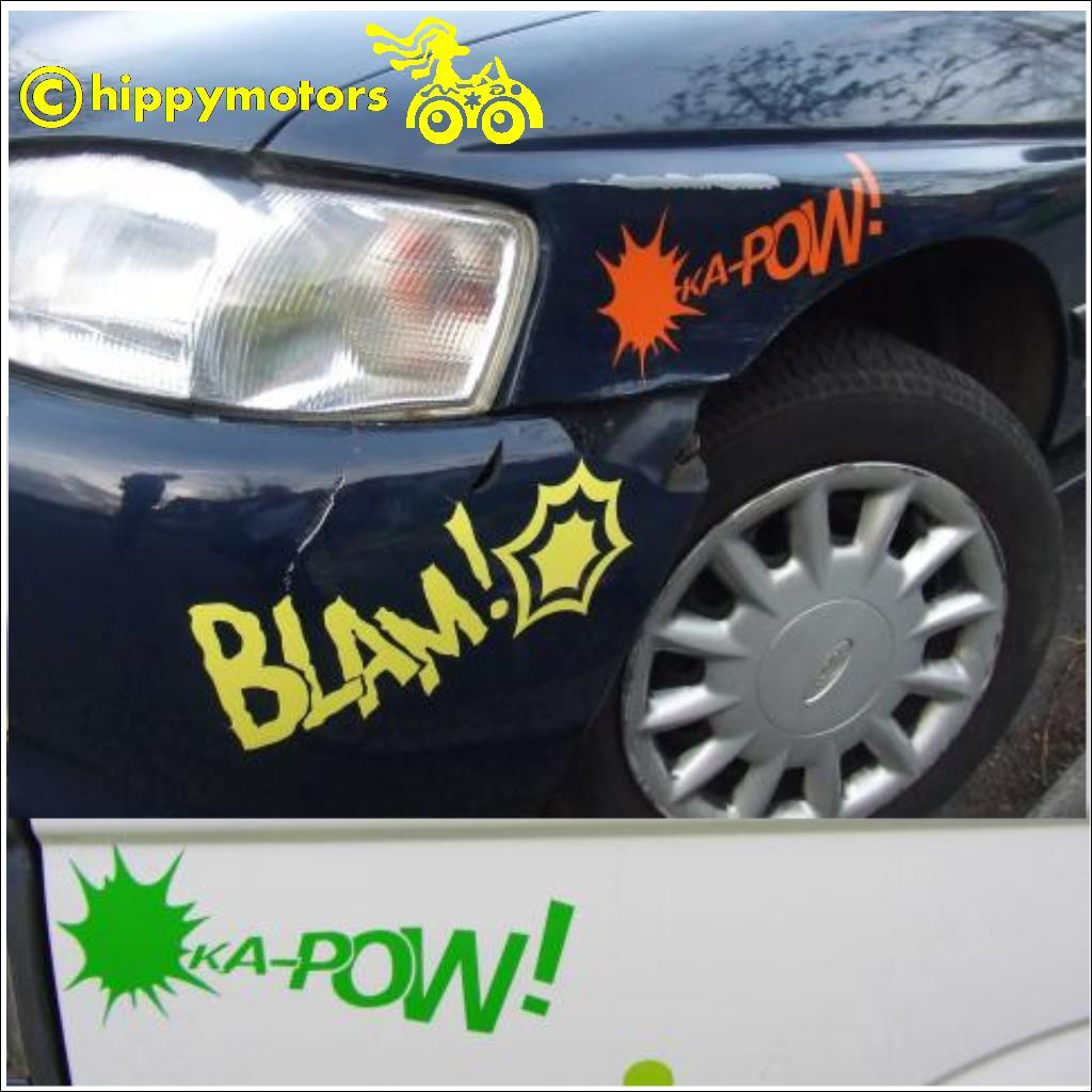 ka pow batman fight decal stickers on camper van car caravan