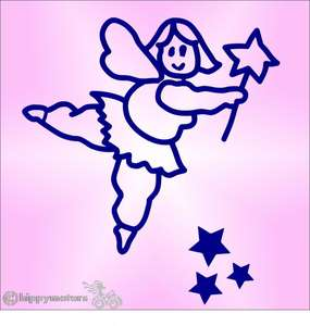 fat fairy car sticker decal caravan graphics hippy motors