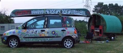 Fiat Multipla vinyl stickers transfers with gypsy caravan
