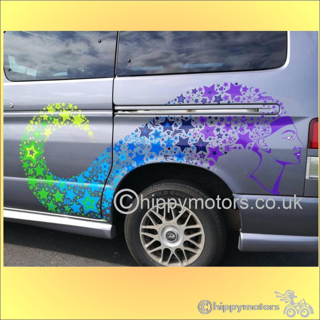 mazda bongo stickers star decals transfers hippy motors