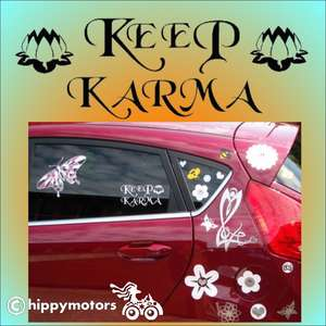 Keep Karma vinyl decal sticker on car