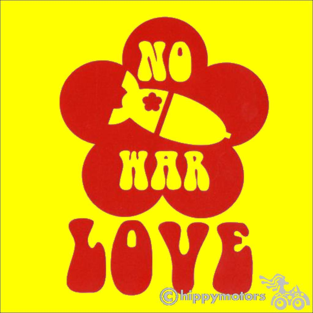 No War Love decal