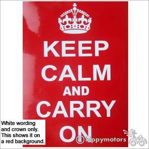 keep calm and carry on decal or sticker for vans or motorhomes