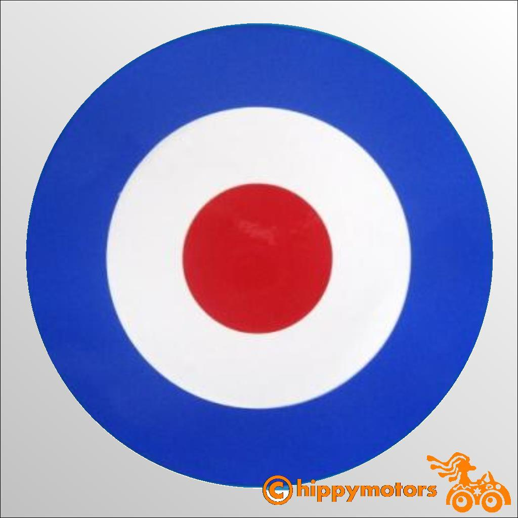 mod target vinyl decal for caravan camper vans and cars