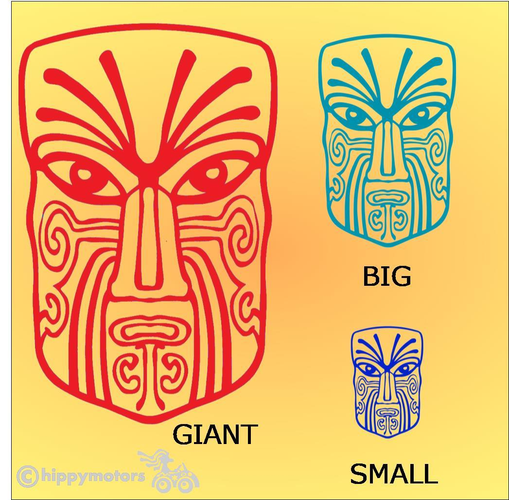maori moko face vinyl decal for windows, walls or cars