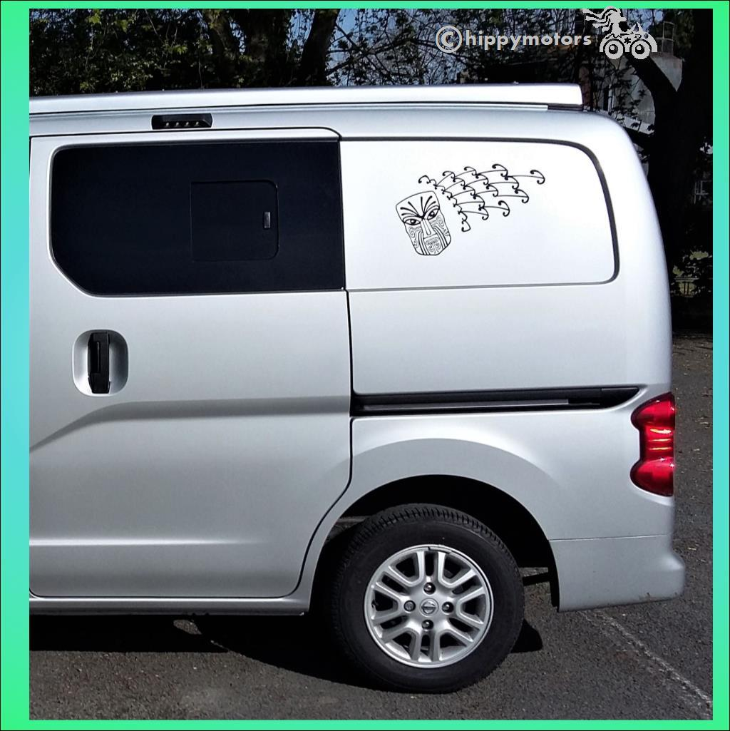 New Zealand maori tattoo decal sticker on VW camper van