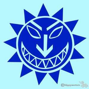 The Levellers face logo decal for cars caravans and windows