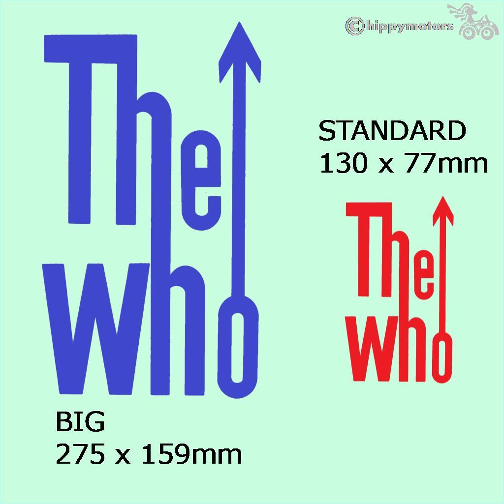 The Who mod vinyl sticker decal for cars scooters camper vans