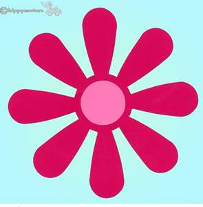 giant daisy flower vinyl transfer sticker for vehicles