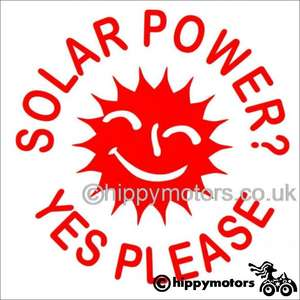 Solar Power yes please decal for cars