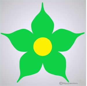 large jasmine daisy vehicle sticker for cars and caravans