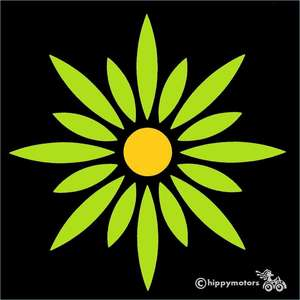 large Alice daisy vinyl decal transfer for windows cars and vehicles