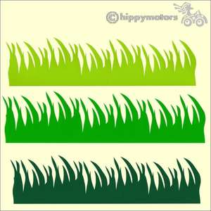 Vinyl Grass decals for caravan or cars windows and walls