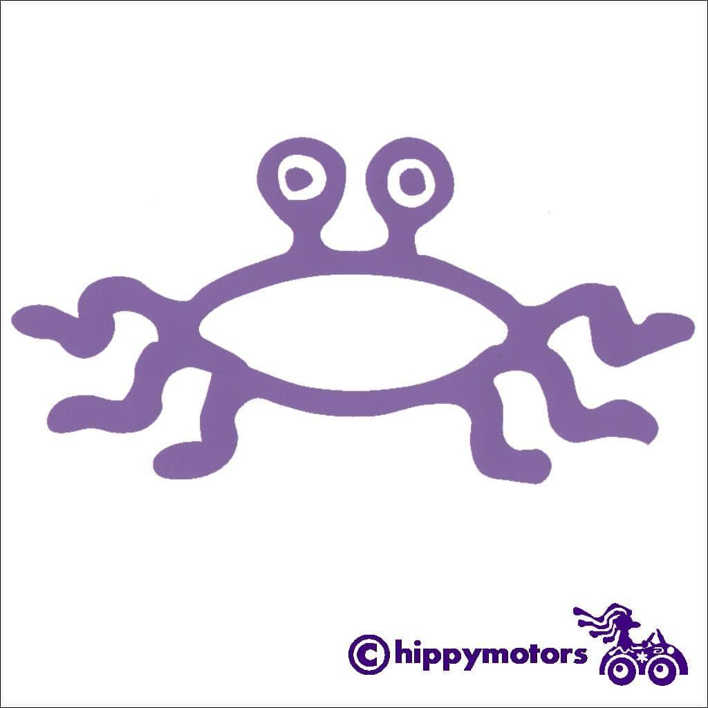 Flying Spaghetti Monster symbol car decal