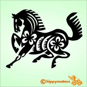 Horse vinyl car Decal by hippy motors