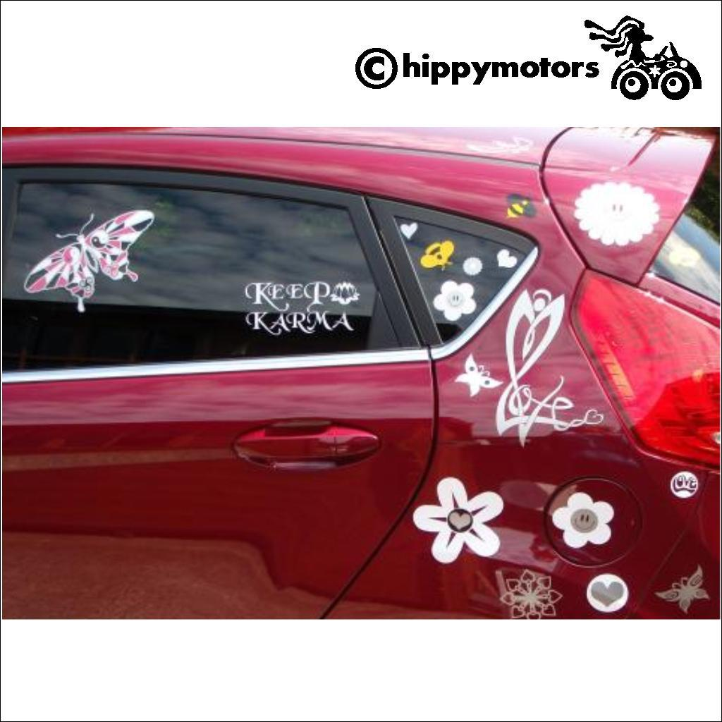 Butterfly decal on car