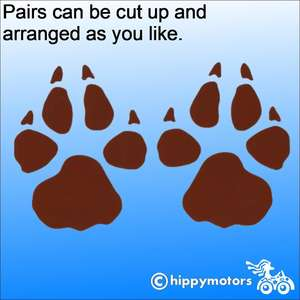 wolf or dog paw print decals for cars
