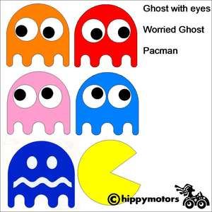 pac man ghost vinyl decals for walls laptops windows cars