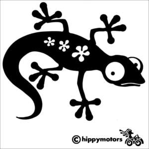 Gecko vinyl car sticker