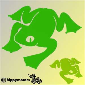 Frog vinyl car sticker from Dunster