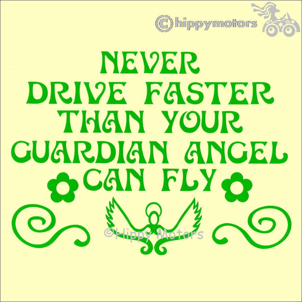 guardian angel car sticker decal hippy motors