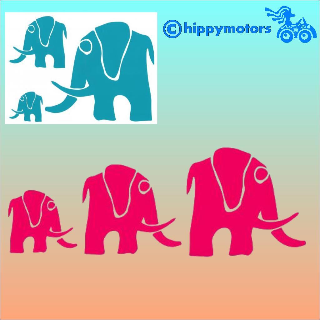 Elephant vinyl car Decals