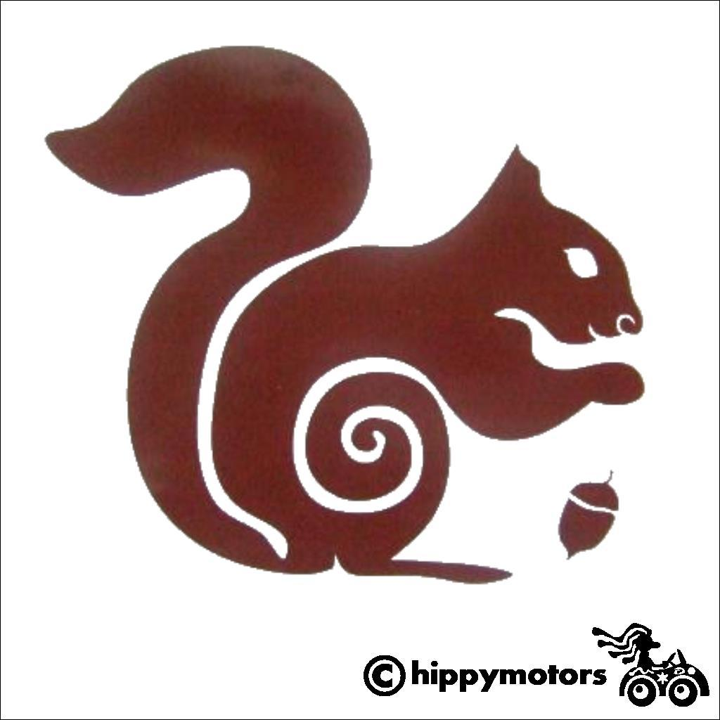 squirrel car decal