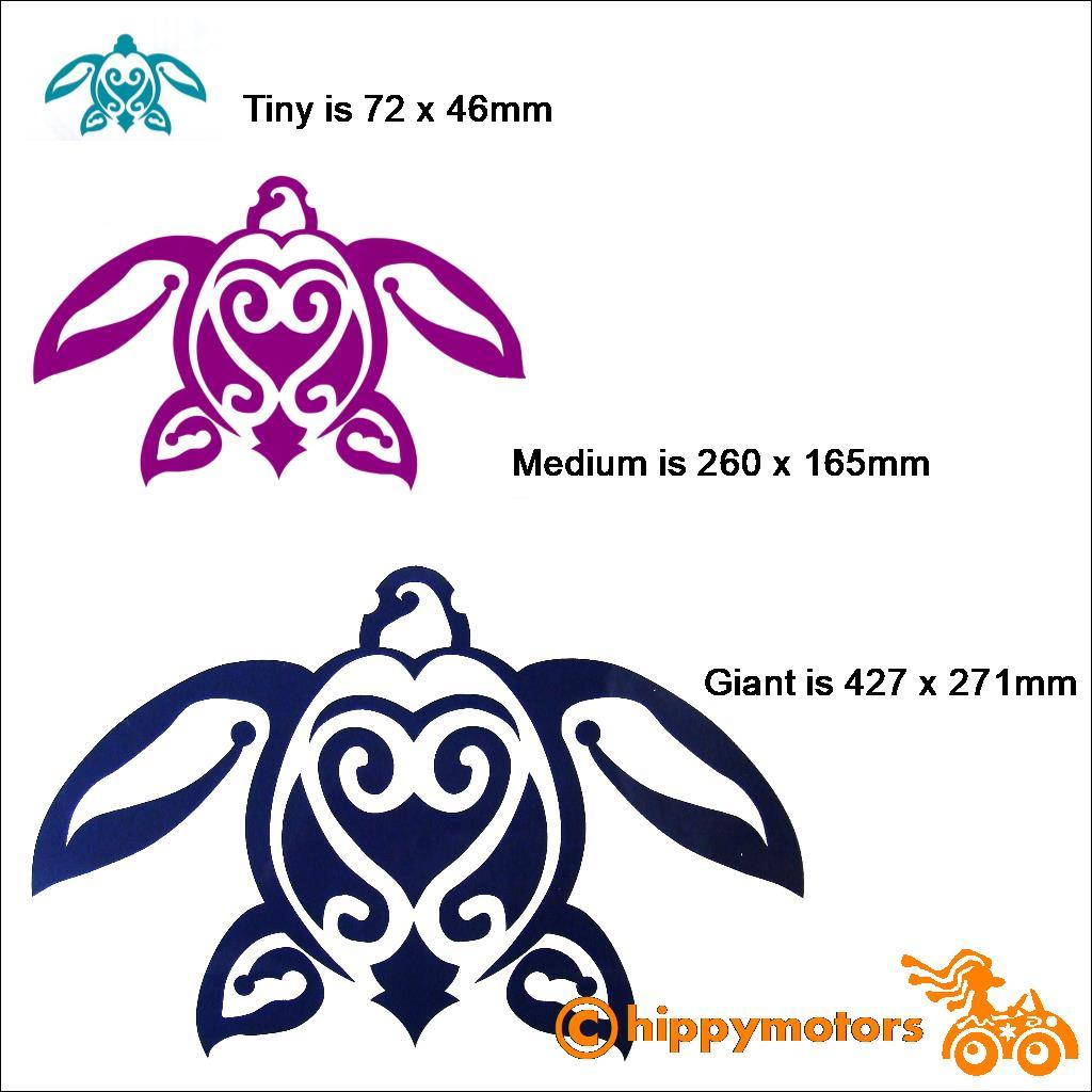 Turtle car sticker by Hippy Motors