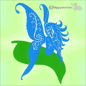 fairy fern sticker car caravan decal transfer hippy motors