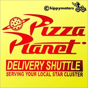 Pizza Planet decal