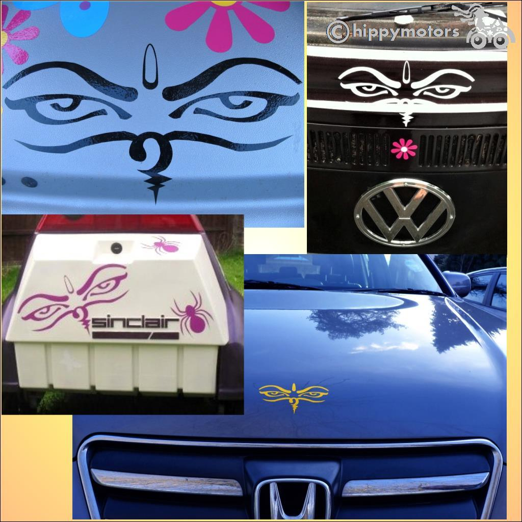 Buddhist car decal stickers vinyl transfer hippy motors