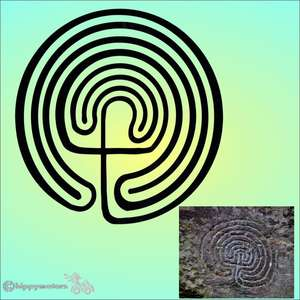 labyrinth car sticker window decal Tintagel Cornwall