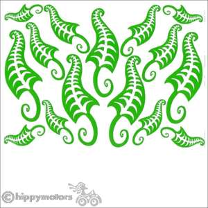Fern Leaf car decal stickers