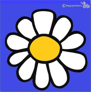 big u change daisy vinyl decal for caravans cars camper vans