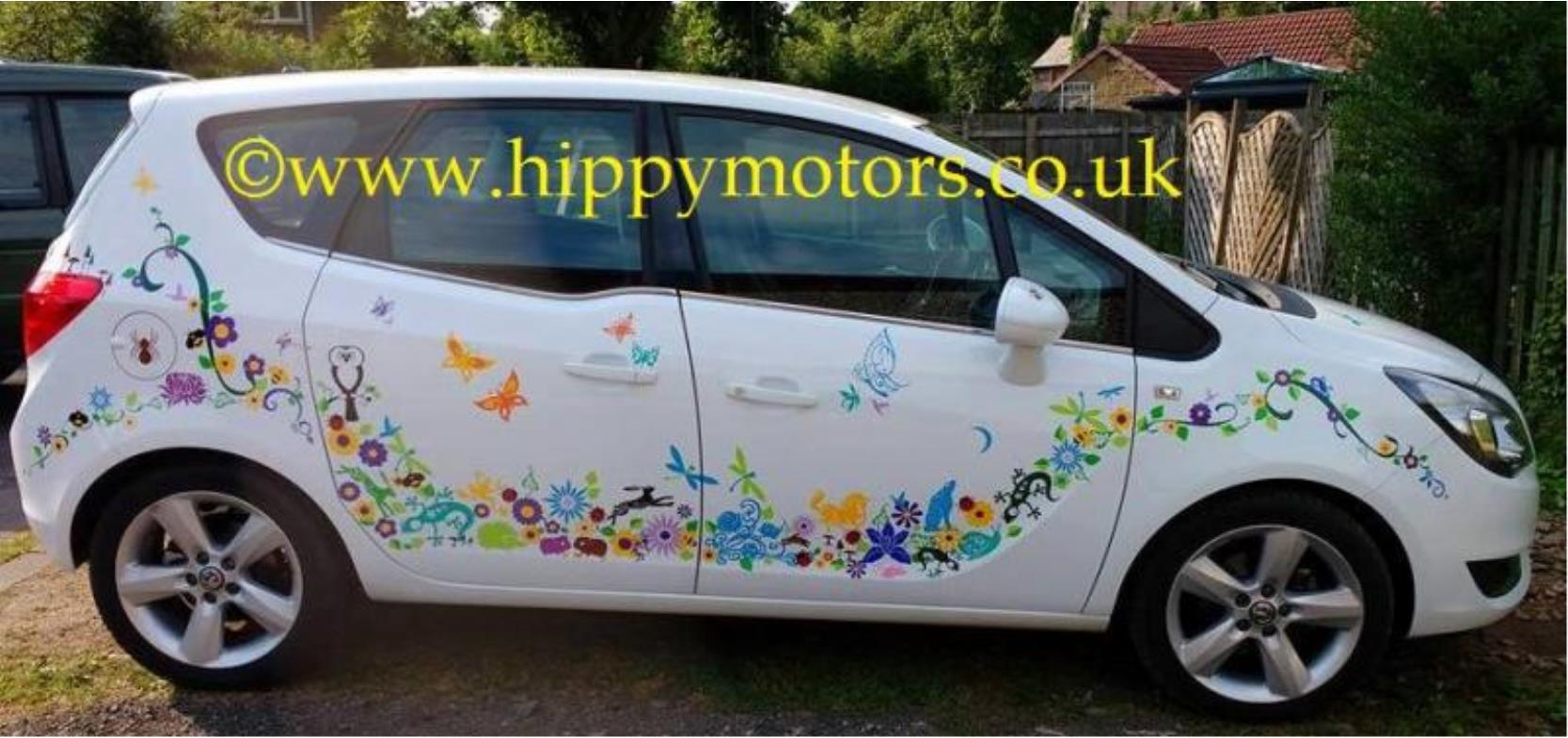 animal, butterfly and vine vinyl stickers
