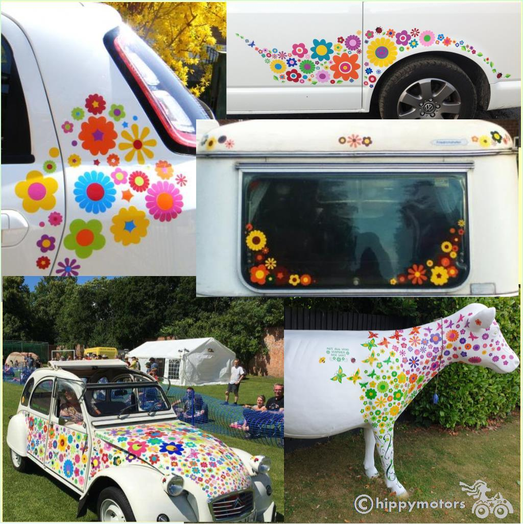 Flower car stickers by Hippy Motors