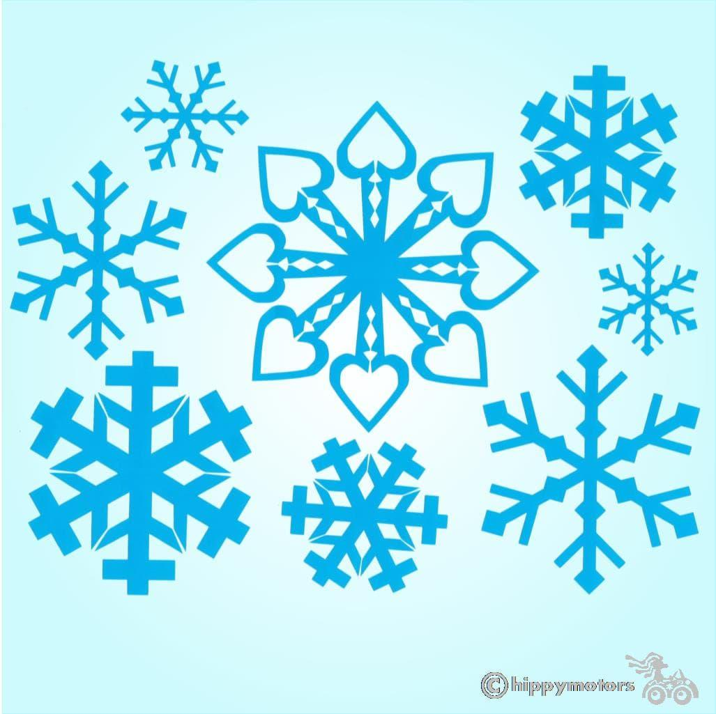 snow flake vinyl vehicle sticker decal transfer hippy motors