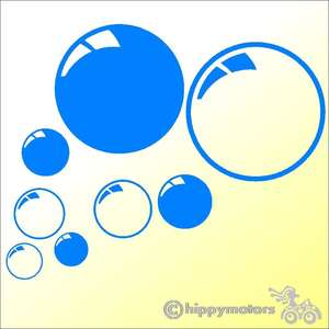 bubble decals for cars or caravans