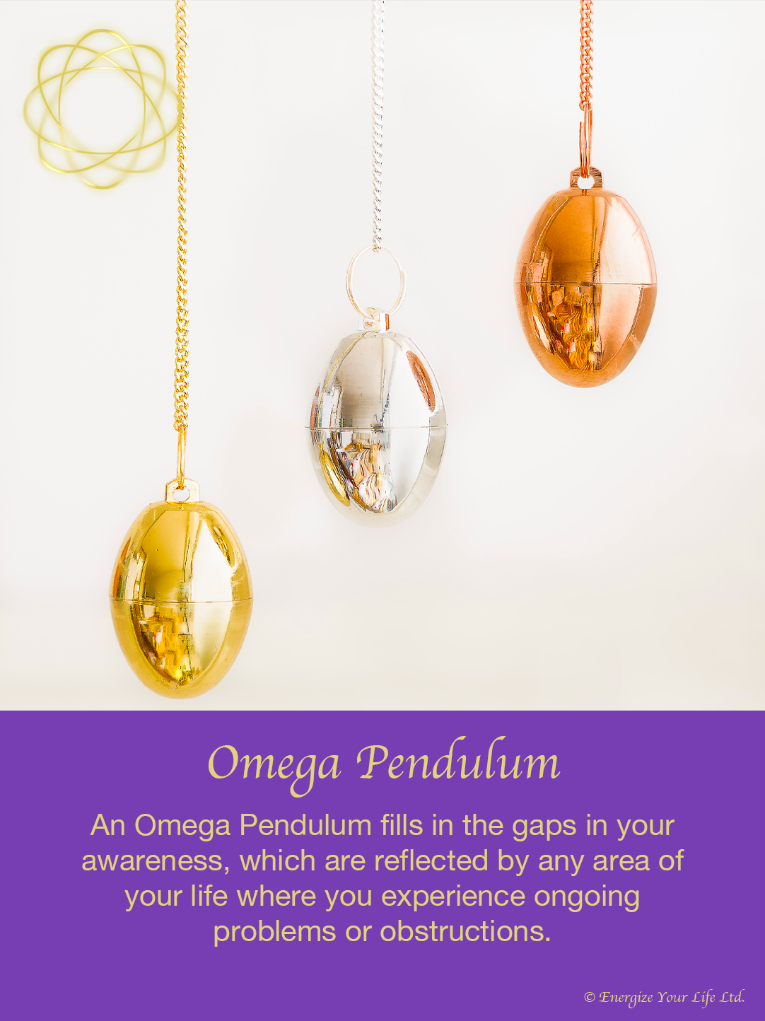 image of gold, silver and copper pendulums