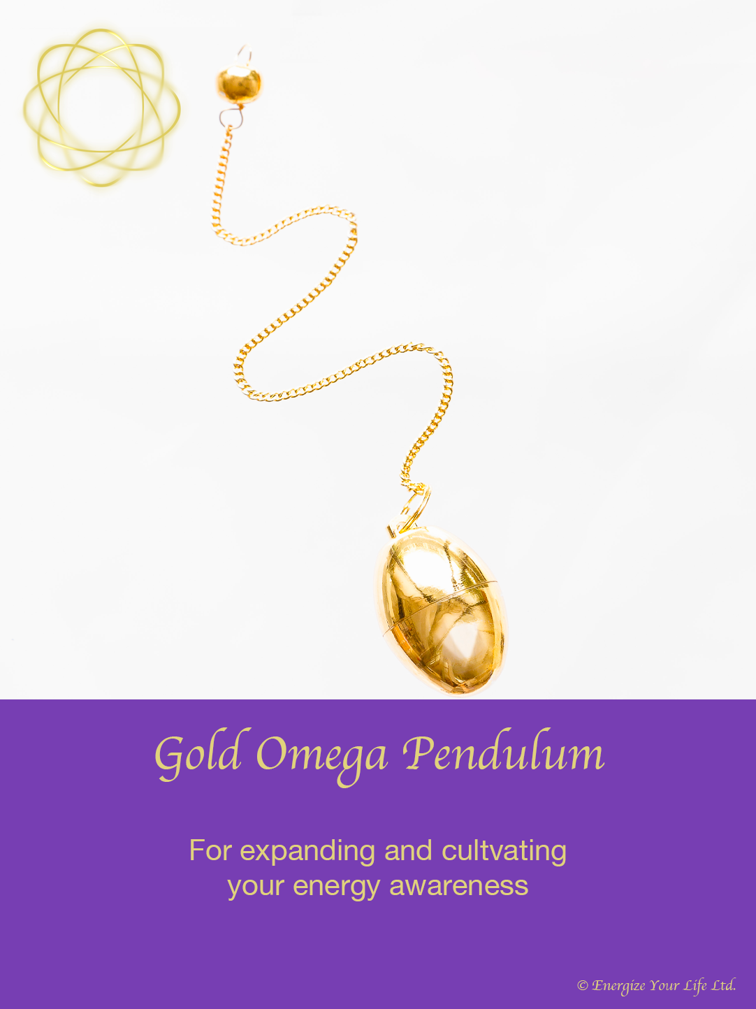 image of gold omega pendulum