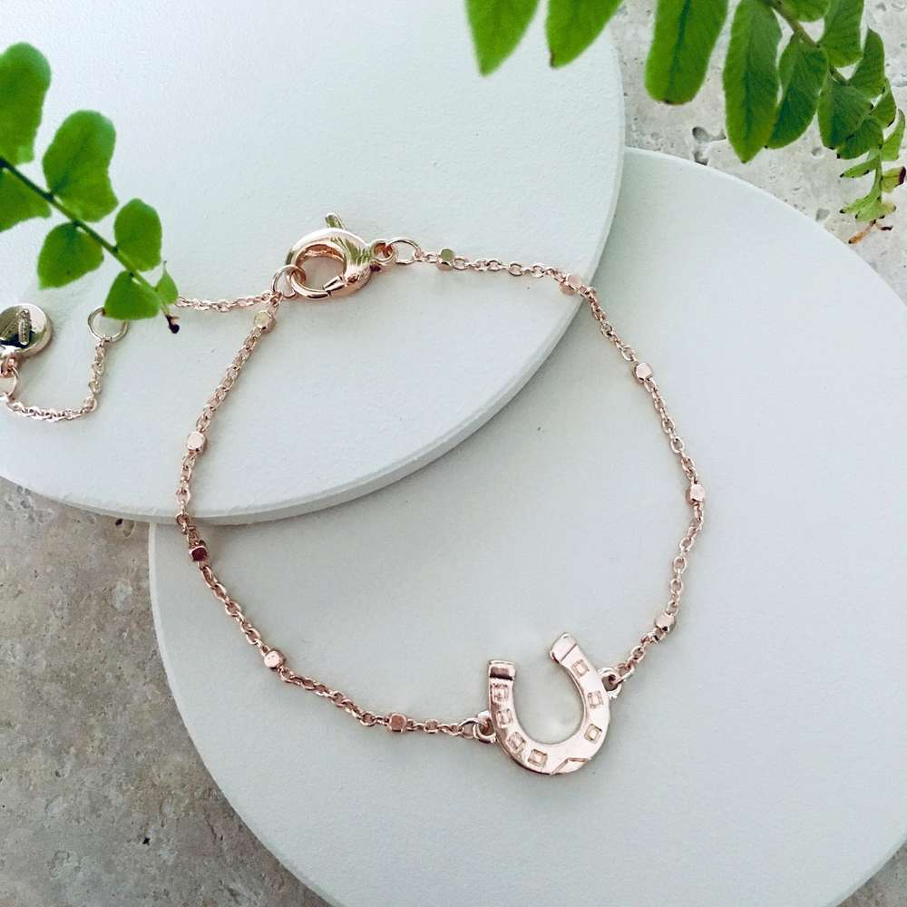 Menagerie - Rose Gold Lucky Horseshoe Reversible Bracelet