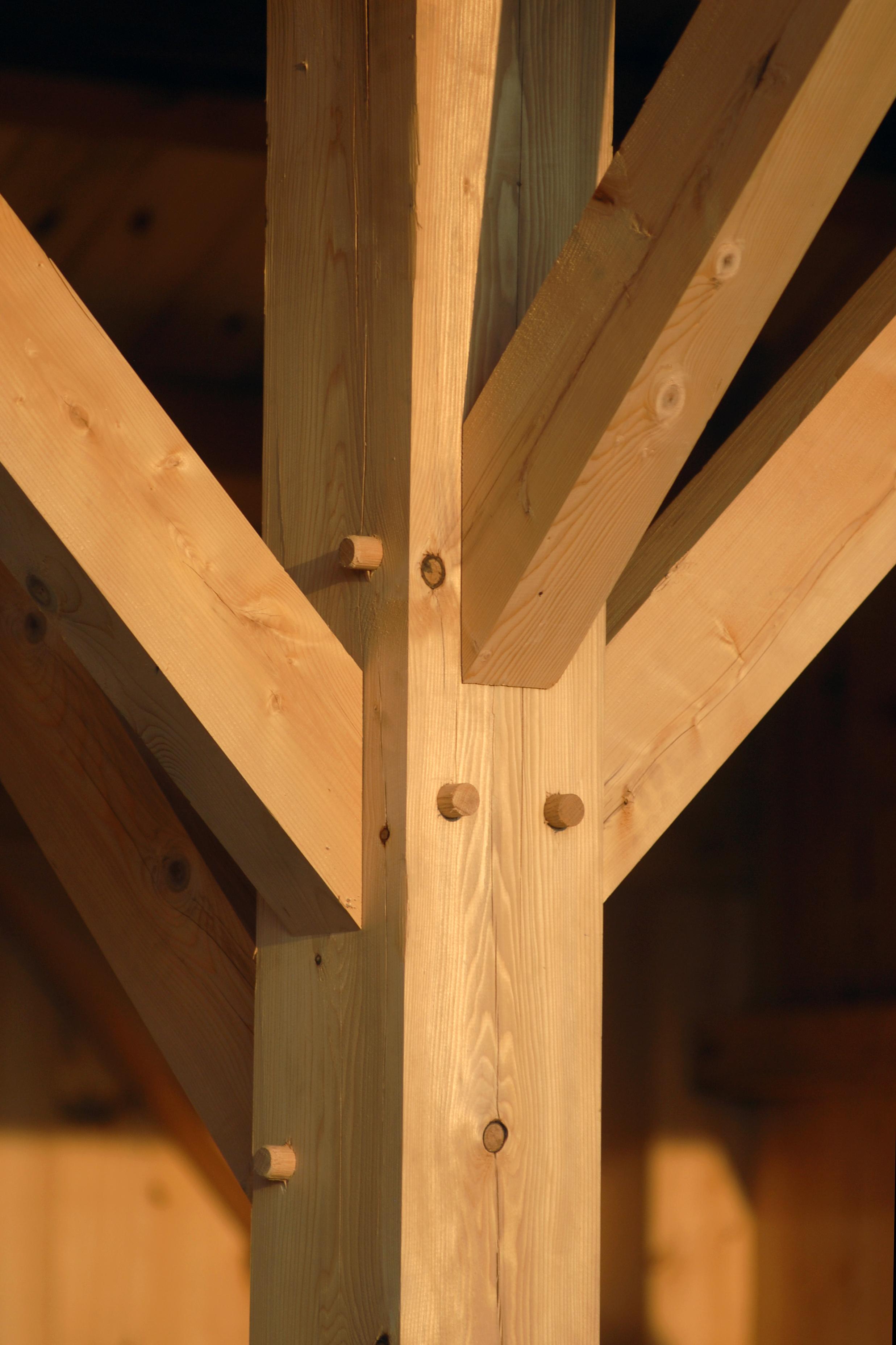 Lean To Carport Convex Beam End Green Oak Douglas Fir Bespoke Designs Available High Quality