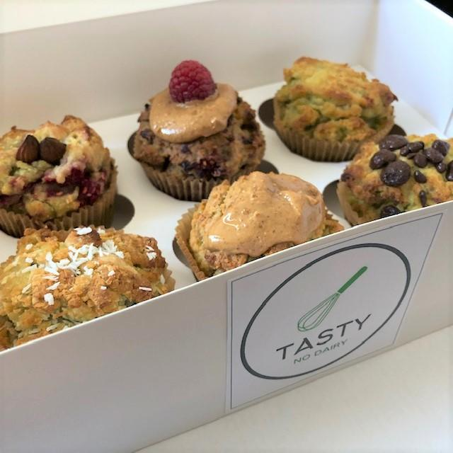 Box of 6 muffins Tasty No Dairy logo