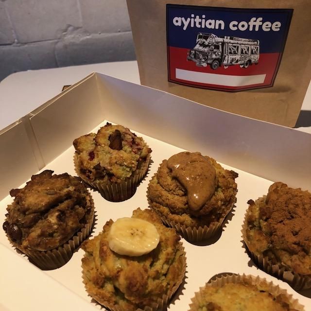Box of 6 muffins with Tasty No Dairy Logo
