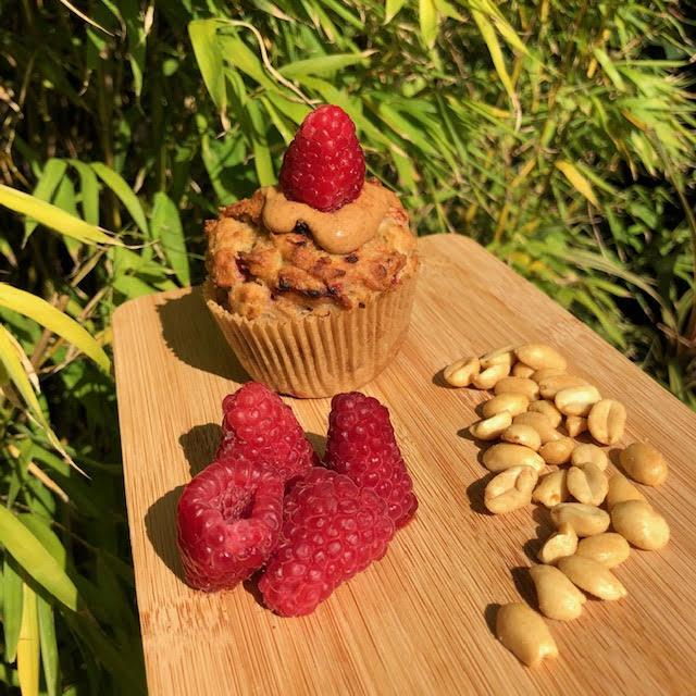 Peanut Butter and Raspberry muffin