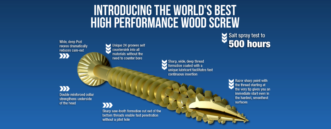Optimaxx | Wood Screws | Trade Tubs | Premium Grade