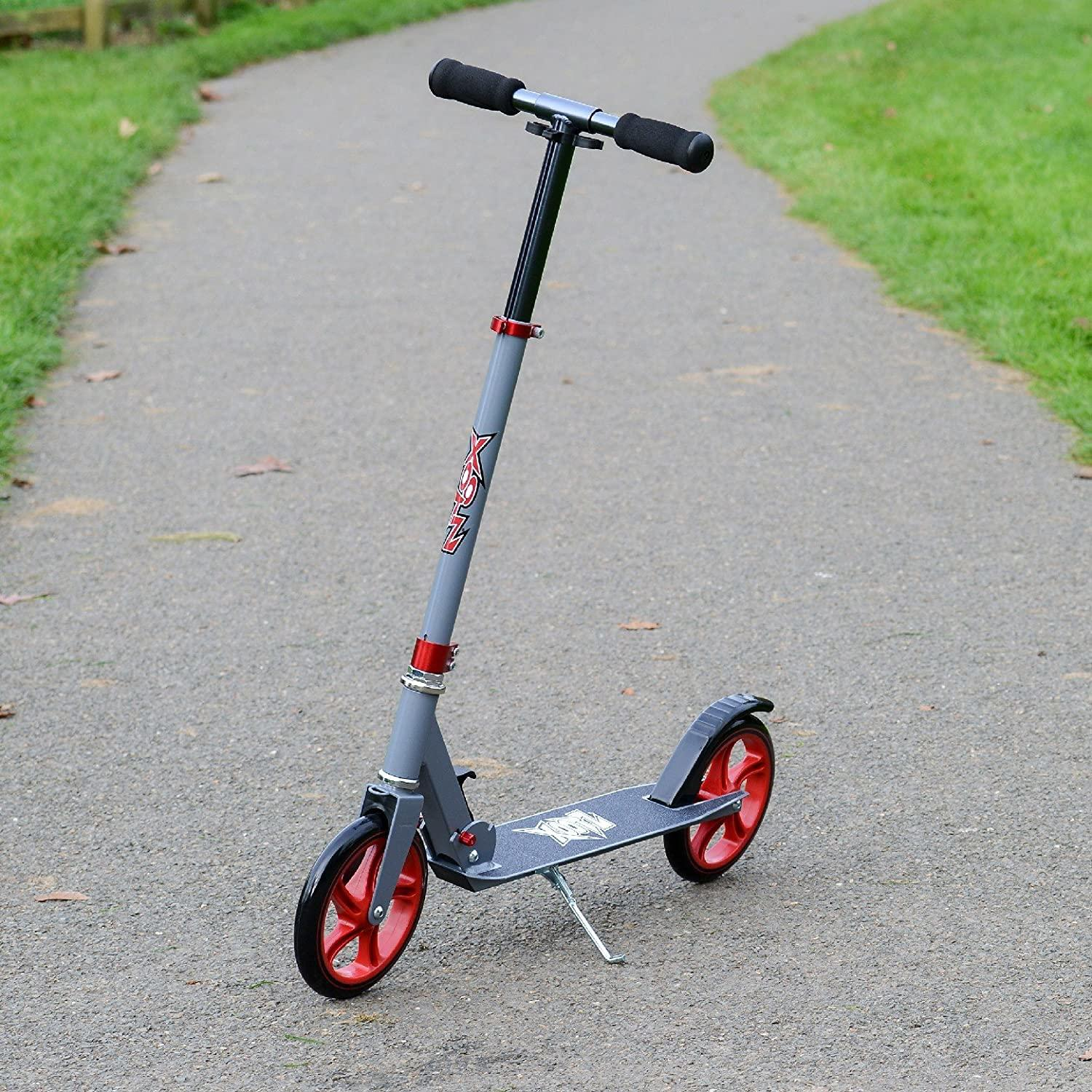 Xootz Large Wheeled Scooter Gunmetal Red Toymaster Ballina