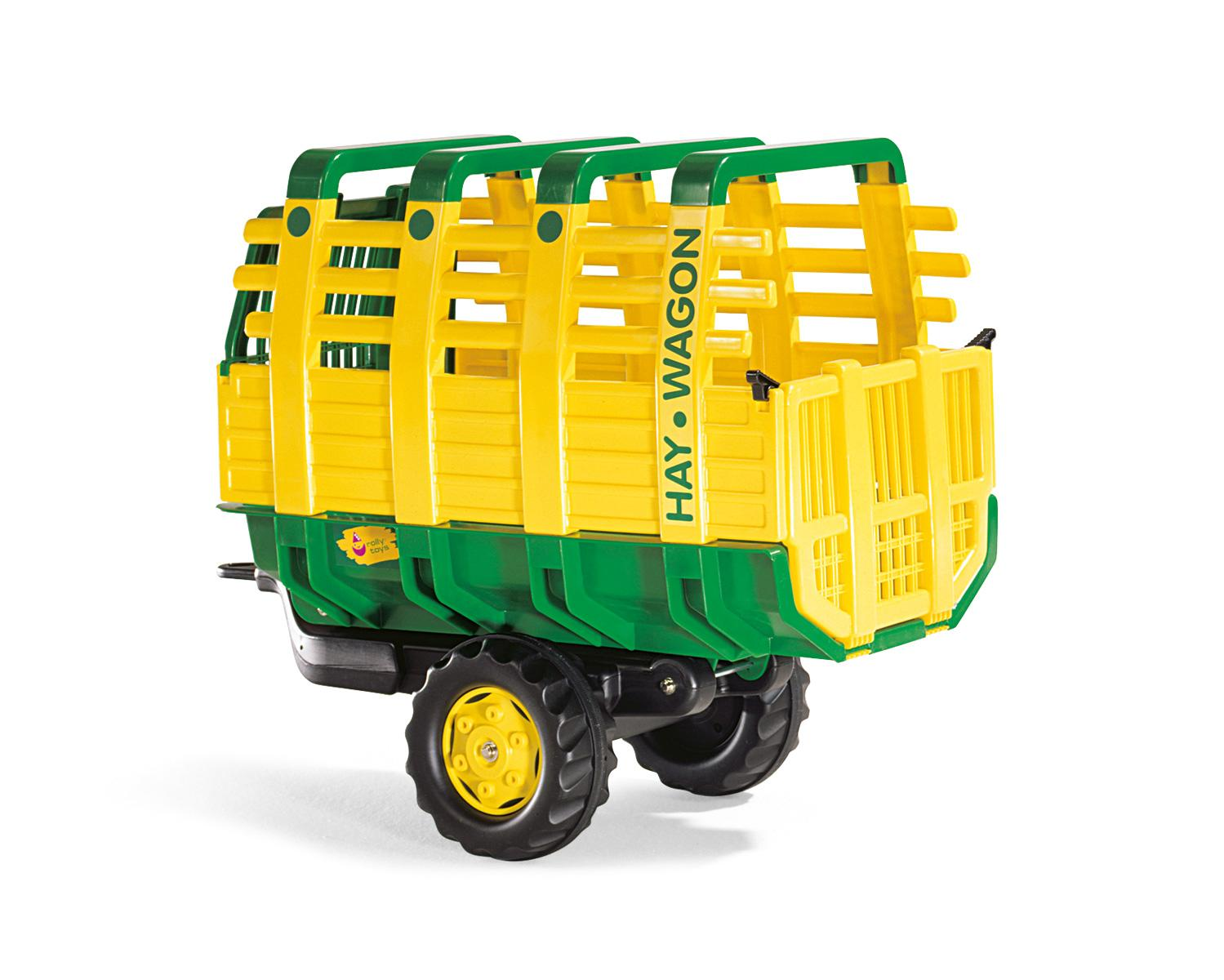 Rolly Hay Wagon Single Axle Green / Yellow Trailer Toymaster Ballina
